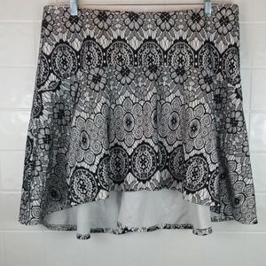 Torrid size 2 high low lace above the knee skirt